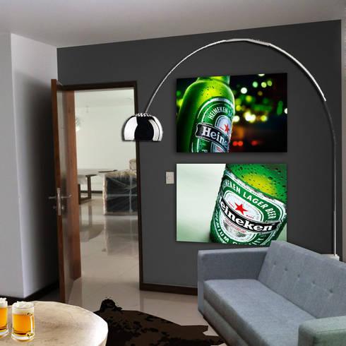 BAR : Salas multimedia de estilo moderno por MINT INTERIORISMO