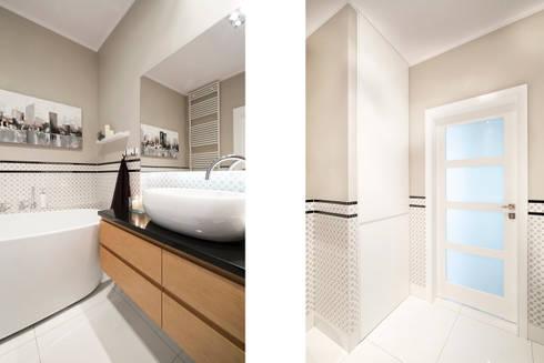 Mieszkanie – Warszawa – 85 m2: styl , w kategorii Łazienka zaprojektowany przez Mprojekt