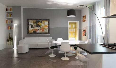 Ridistribuire gli spazi da appartamento anni 60 a moderno for Soggiorno living moderno