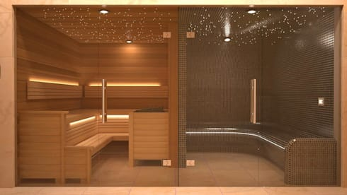 steam and sauna design installation by nordic saunas and steam homify. Black Bedroom Furniture Sets. Home Design Ideas