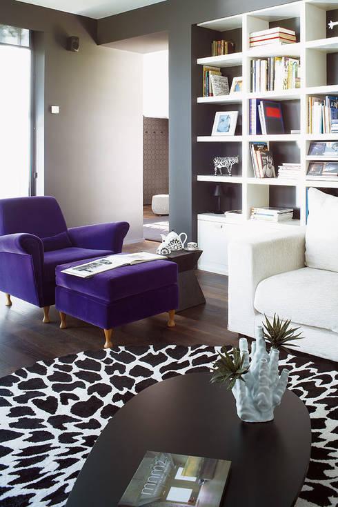 Projekty,  Salon zaprojektowane przez Deu i Deu