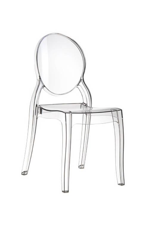 Krzesło MIA transparentne: styl , w kategorii Jadalnia zaprojektowany przez ArchonHome.pl