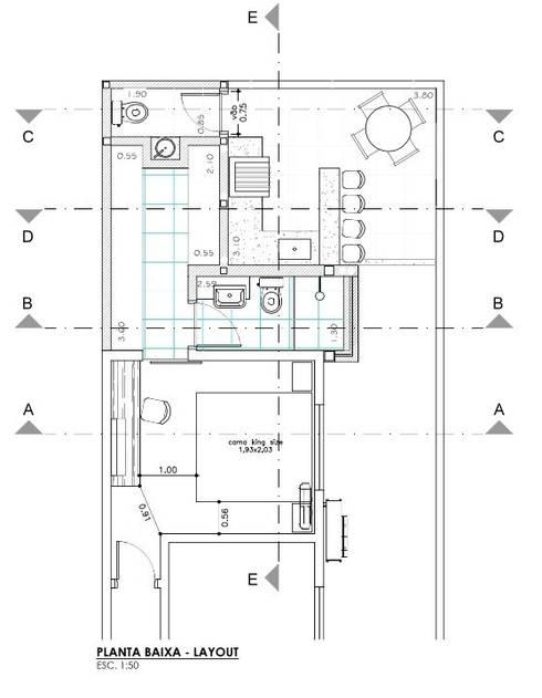 Planta Baixa - Ampliação:   por Raquel Pelosi Arquitetura e Design Visual
