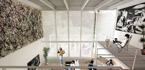 Interior: Estudios y oficinas de estilo minimalista por Colectivo Ruta Alterna