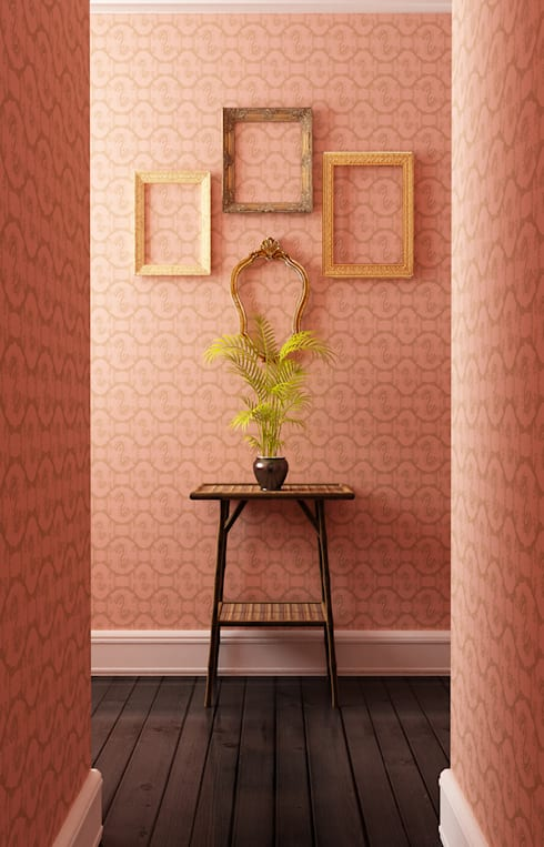 Indian Bee - Copper Blush:  Living room by Mockbee and Co
