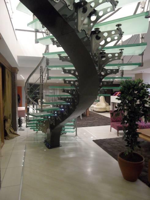 Visal Merdiven – Aydın Tekstil - İstanbul:  tarz Koridor, Hol & Merdivenler