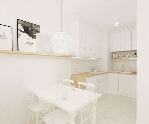 Cocinas de estilo escandinavo por 4ma projekt