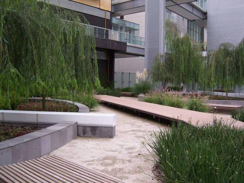 Parques Polanco: Jardines de estilo moderno por KVR Arquitectura de paisaje