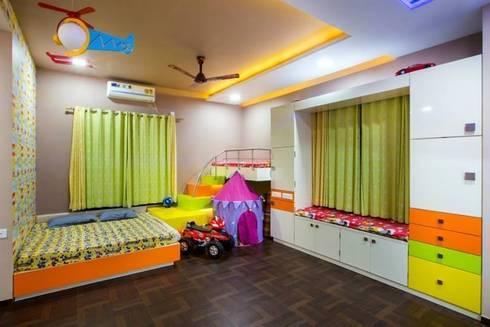 Mr Mulla Residence : modern Nursery/kid's room by Srujan Interiors & Architects Pvt Ltd