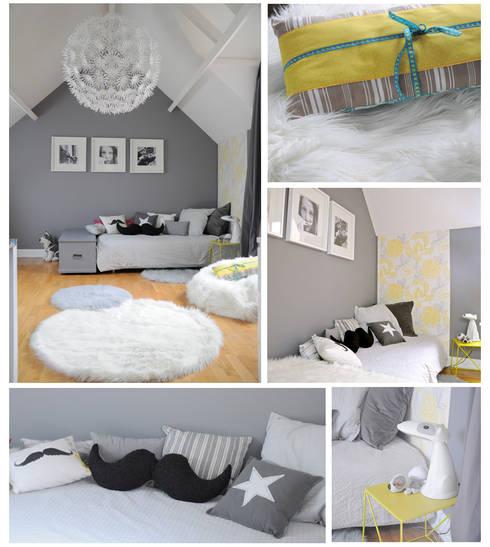 Une chambre grise et blanche par id e logis homify for Agencement chambre enfant