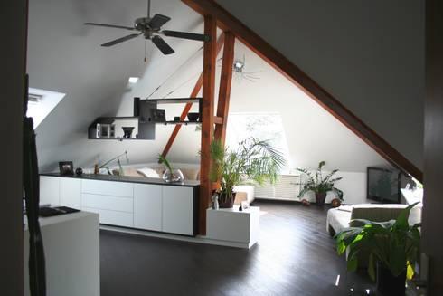 umbau einer wohnung im dachgeschoss von lico design homify. Black Bedroom Furniture Sets. Home Design Ideas