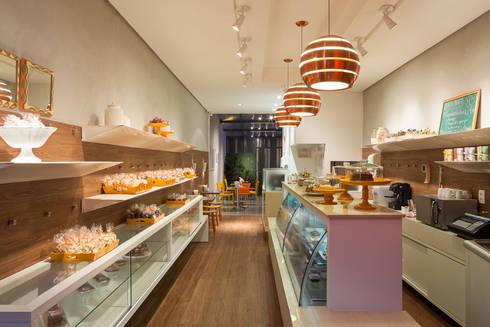 Lale Cafeteria e Doceria: Lojas e imóveis comerciais  por Vmf Arquitetos