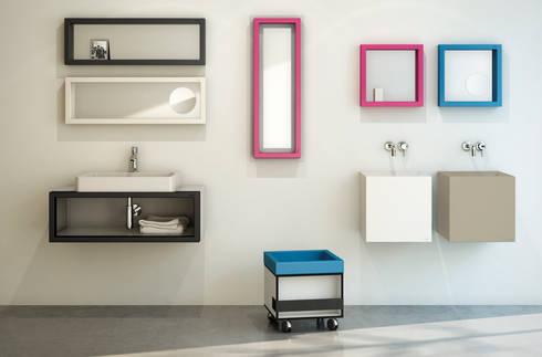 Colección de lavabos, espejos, muebles y accesorios BO!NG: Baños de estilo moderno de Boing Original