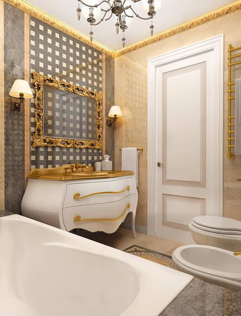 Легкая классика: Ванные комнаты в . Автор – VITTA-GROUP