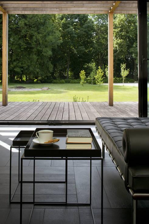 Łęka - Park: styl , w kategorii Salon zaprojektowany przez Architekci Łosiak_Siwiak
