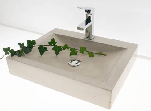 waschbecken aus beton nach ma von die betonagerie homify. Black Bedroom Furniture Sets. Home Design Ideas