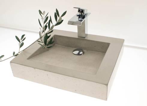die betonagerie waschbecken aus beton nach ma homify. Black Bedroom Furniture Sets. Home Design Ideas