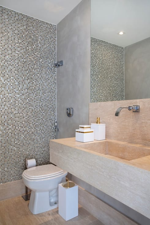 Bathroom by ANGELA MEZA ARQUITETURA & INTERIORES