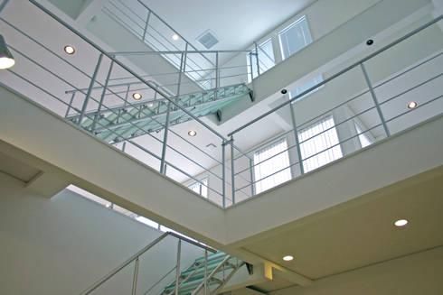 TAS Glass & Wood Step: Morita Aluminum Industry, INC.が手掛けた廊下 & 玄関です。