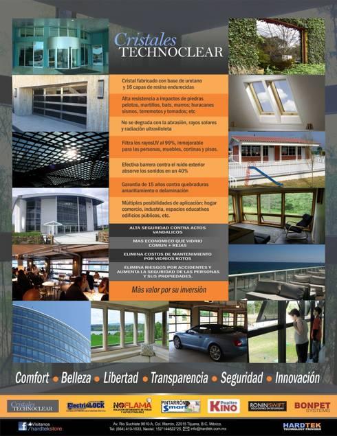 AMPLIO CAMPO DE APLICACIONES: Hoteles de estilo  por Hardtekstore