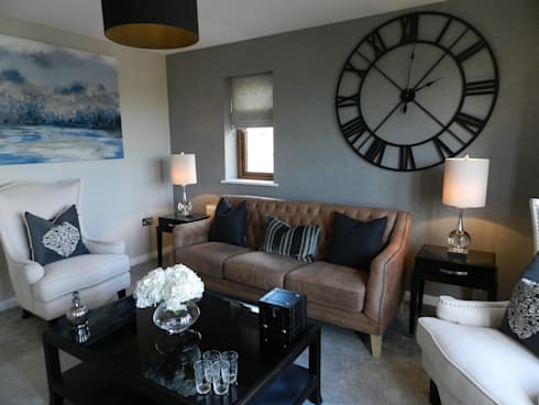 Show Home Living Room Colour Palette Grey Modern By KD