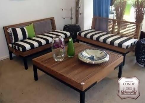 tapizado de sillones y cojines para exteriores terrazas de estilo de tapicera conde