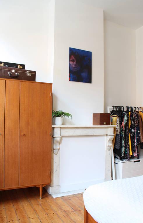 detail slaapkamer: moderne Slaapkamer door studio k