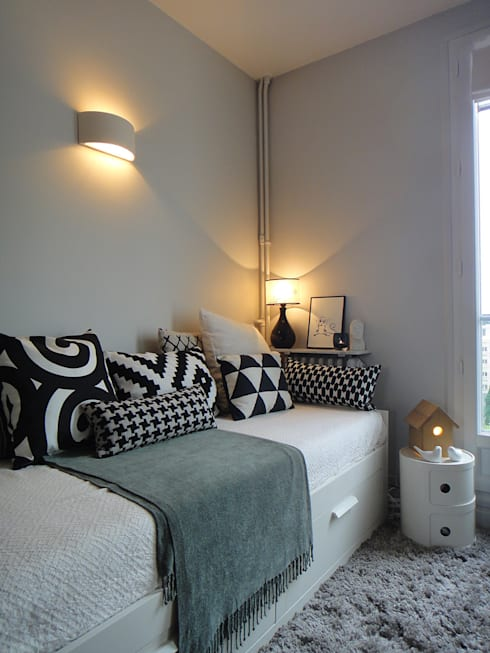 Projekty,  Sypialnia zaprojektowane przez CORTOT Architecture Interieure