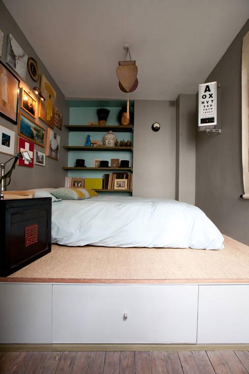 غرفة نوم تنفيذ Jean-Bastien Lagrange + Interior Design