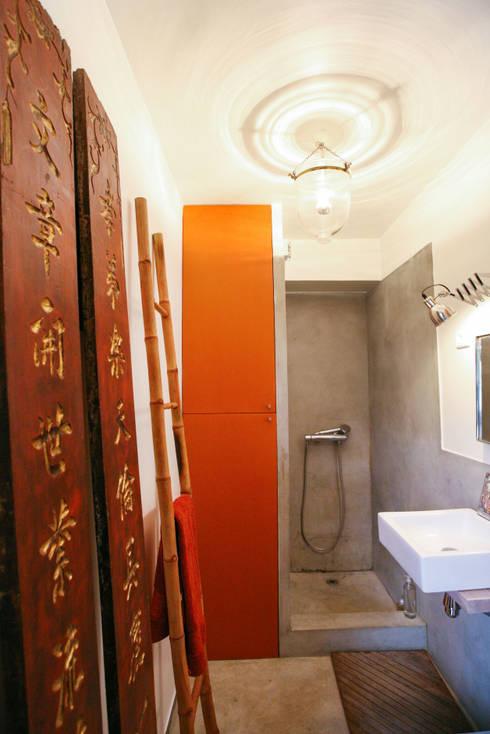 industrial Bathroom by Jean-Bastien Lagrange + Interior Design