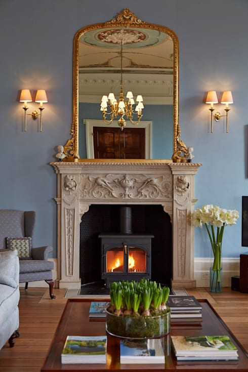 Georgian Country House:  Living room by Etons of Bath