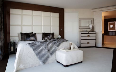 Penthouse apartment, Vauxhall: modern Bedroom by Keir Townsend Ltd.