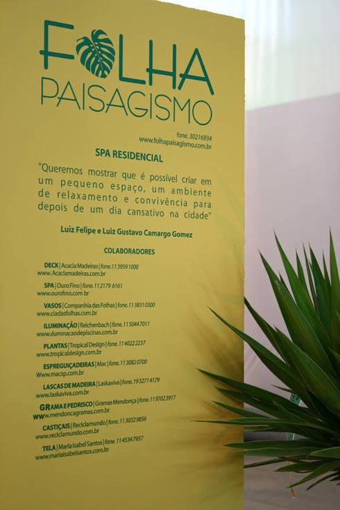 FiaFlora Expogarden | 2007: Spas modernos por Folha Paisagismo