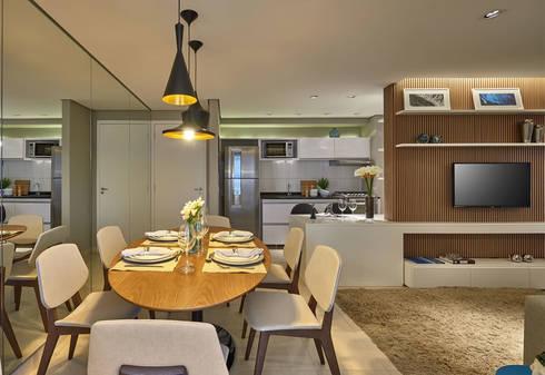 Sala de jantar: Salas de jantar modernas por Fernanda Sperb Arquitetura e interiores