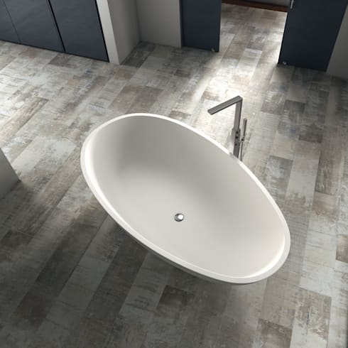 Bañera Zen: Baños de estilo minimalista de BATH