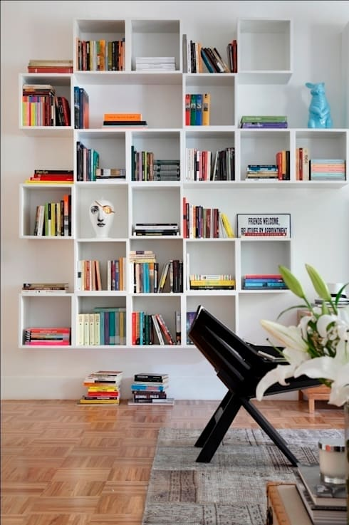 Apartamento Laranjeiras: Salas de estar  por Barbara Filgueiras arquitetura