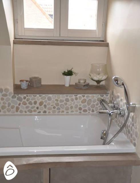 Salle de bain min rale zen par id e logis homify - Idee salle de bain zen ...