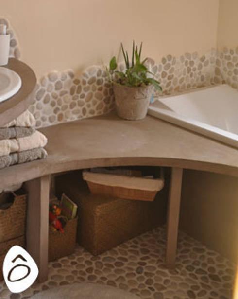 salle de bain min rale zen de id e logis homify. Black Bedroom Furniture Sets. Home Design Ideas