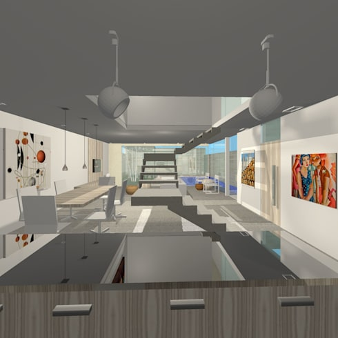 Projeto Casa: Salas de jantar modernas por Studio Bonazza