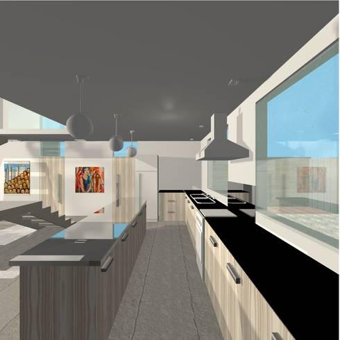 Projeto Casa: Cozinhas modernas por Studio Bonazza