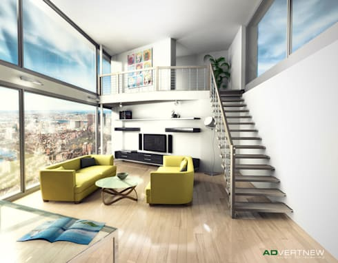 3d render interni e arredo di advertnew homify for Interni 3d