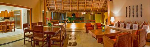 Villa Farallón 14: Salas de estilo topical por BR  ARQUITECTOS
