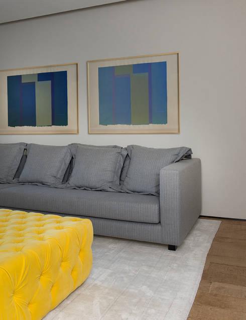 Casa Boa Vista : Salas de estar campestres por Triplex Arquitetura
