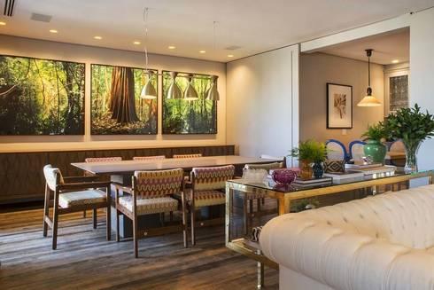 Apartamento Cidade Jardim : Salas de jantar modernas por Triplex Arquitetura