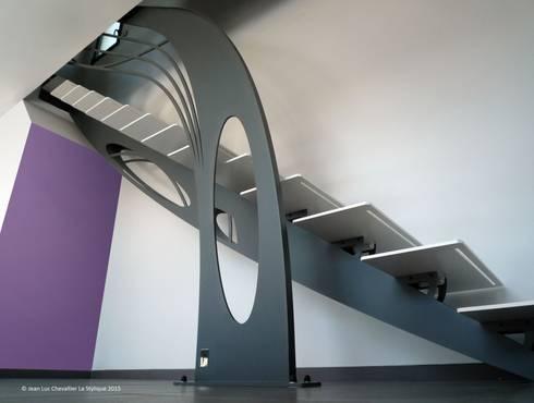 Escalier design quart tournant Art Nouveau par La Stylique | homify