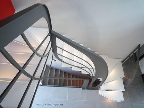 Escalier design double quart tournant Art Nouveau von La Stylique ...