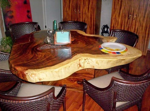 Mesa de Parota Organica: Comedor de estilo  por Cenquizqui