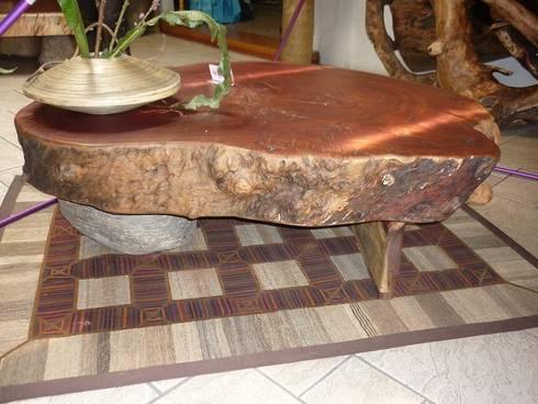 Mesa de Centro Organica: Salas de estilo rústico por Cenquizqui