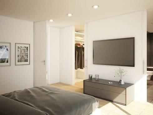 Evergreen: Quartos modernos por Imoproperty - Real Estate & Business Consulting