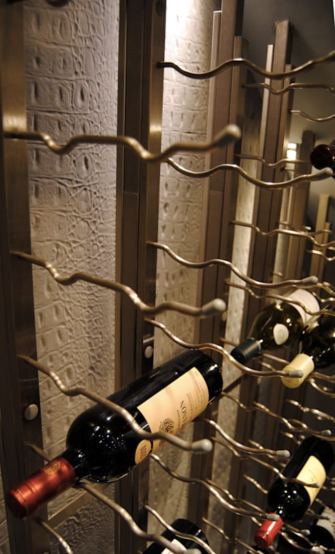 Colherne Mews: Cave à vin de style  par Concrete LCDA